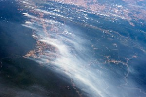 Forests burning visible from space. photocredit: NASA